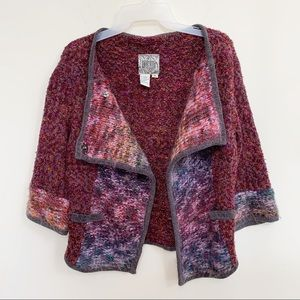 Curio Cropped Asymmetrical Front Cardigan